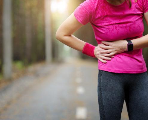 Crampe abdominales, douleurs au ventre après l'effort