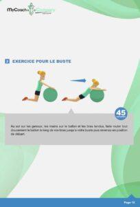 Exercice de gym ball pour se tonifier